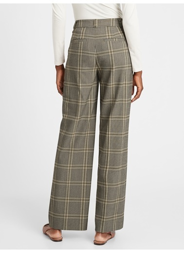 Banana Republic High Rise Slim Wide Leg Pantolon Kahve